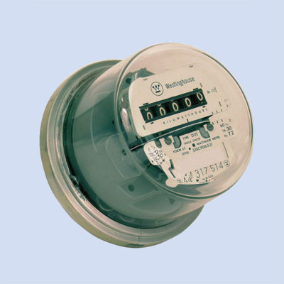 Image of RV electric meter, refurbished RV watt hour meter