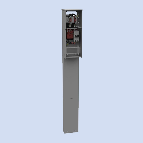 Image of Milbank FMG mobile home pedestal, 200 amp mobile home panel U5136