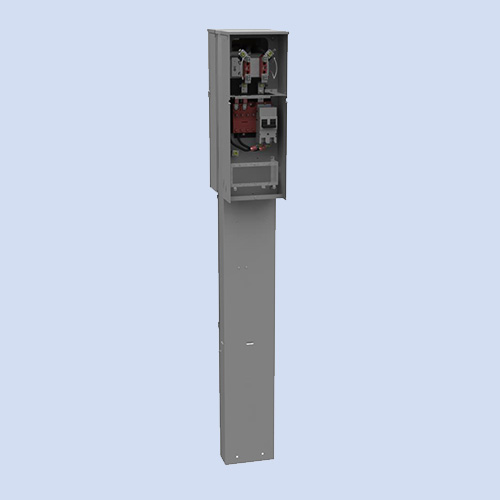Image of Milbank FMG mobile home pedestal, 200 amp mobile home panel