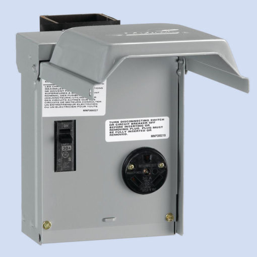Image of U013C 30 amp receptacle and breaker RV hookup