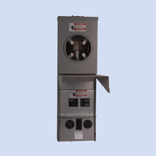 Image of CHM1N7N4NS Eaton RV surface box with meter 50 & 30 amp receptacles