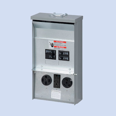 Image of CHU1N7N4NS Eaton RV surface box 50/30/20 amp receptacles