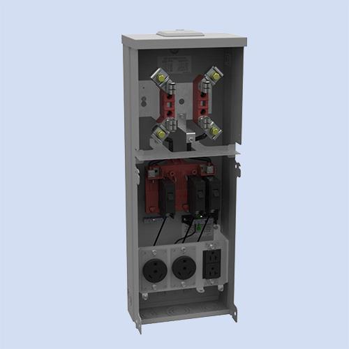 Image of U5100-XL-332 Milbank RV box (2) 30 amp receptacles