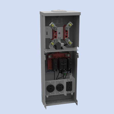 Image of U5100-XL-75 Milbank RV box 50 & 30 amp receptacles