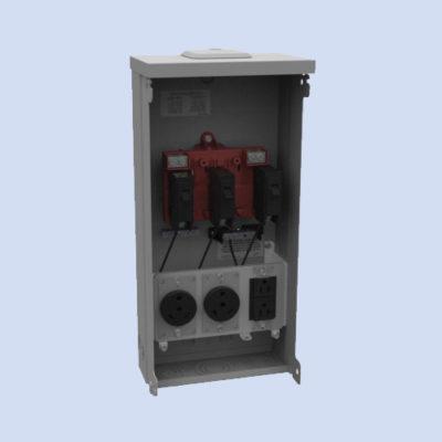 Image of U5000-XL-332 Milbank RV surface box 30/20 receptacles
