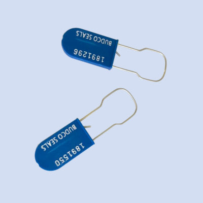 Image of electric meter security tag, Budco seal