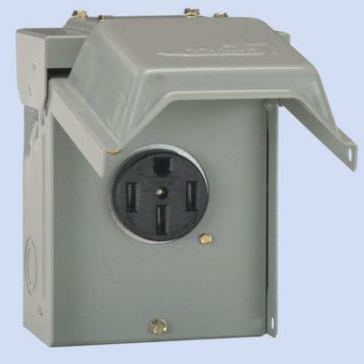 Image of U054 Midwest RV hookup, 50 amp receptacle