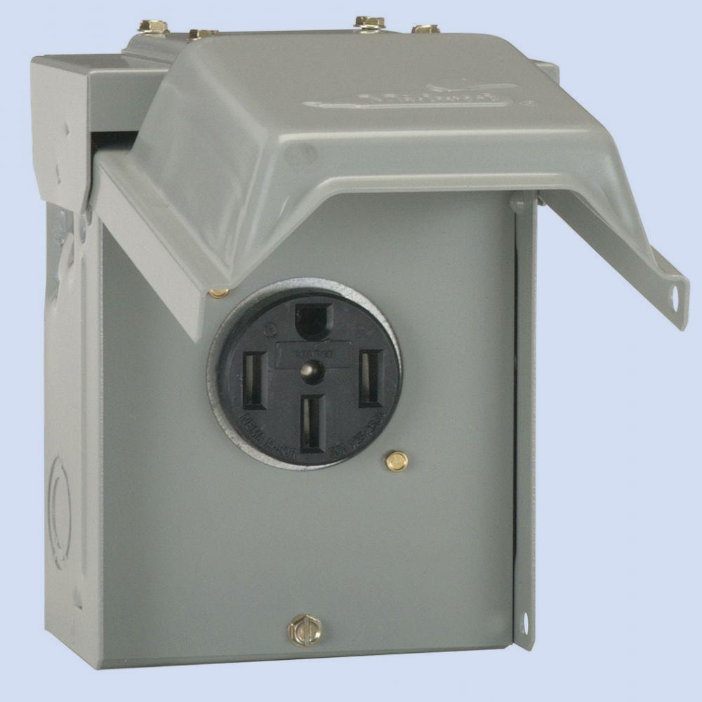 50 Amp Receptacle >> U054 50 Amp Power Outlet B B Electrical